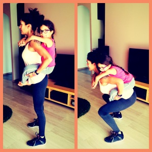 Sandra exo maman enfant squat